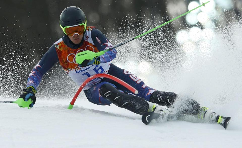 "US star Ted Ligety skied out in his second run and didn't finish the tricky course, calling it ""borderline unsportsmanlike.''"