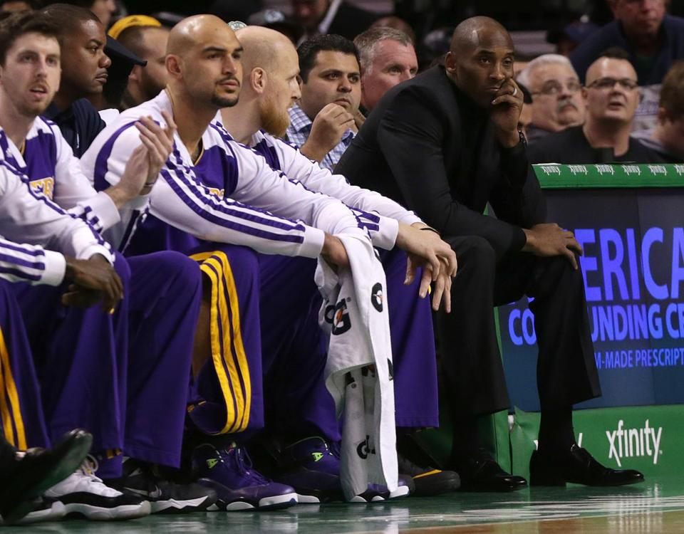Kobe Bryant doesn't like to watch from the bench.