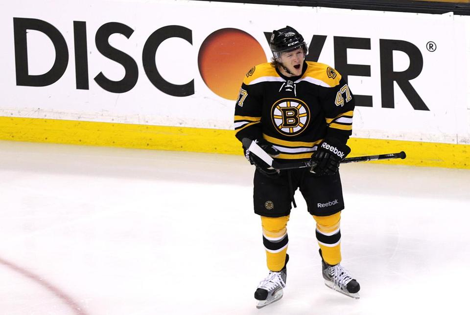 Torey Krug has racked up 16 points on the power play in 57 games.