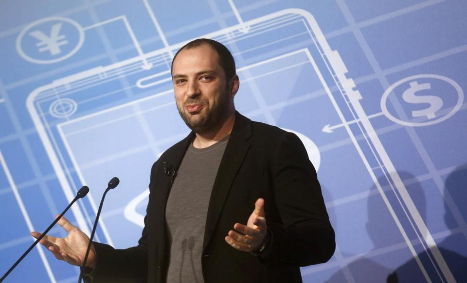 Jan Koum, chief executive officer and co-founder of WhatsApp, delivered a keynote speech at the Mobile World Congress in Barcelona.