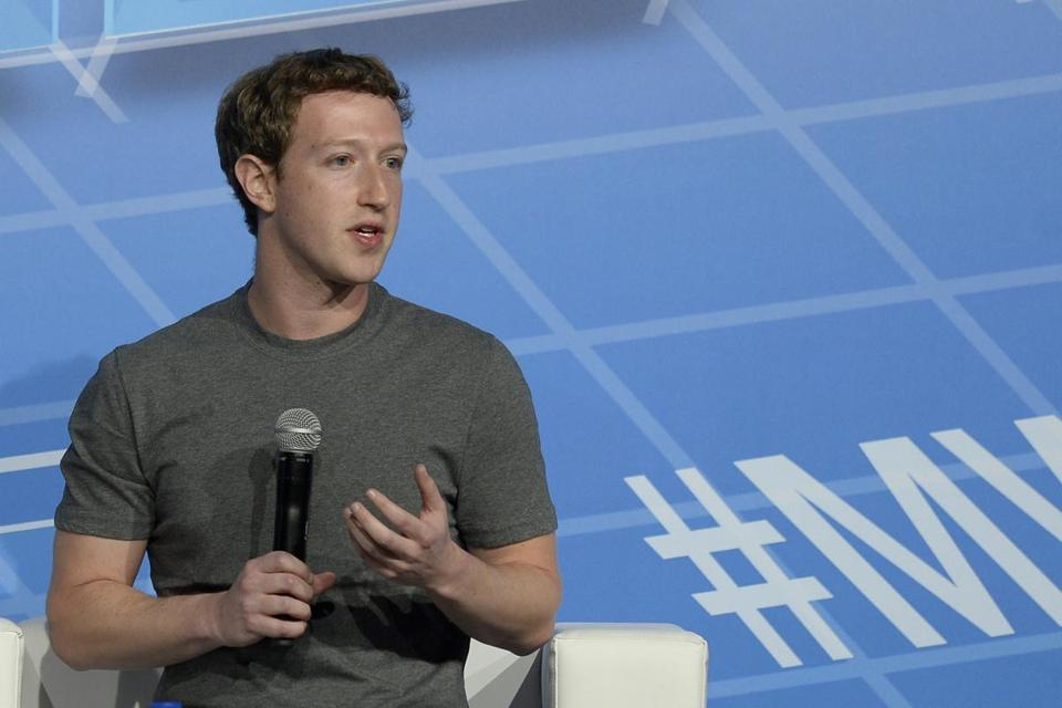 Facebook's 29-year-old billionaire creator Mark Zuckerberg spoke on the opening day of the Mobile World Congress in Barcelona, Spain.