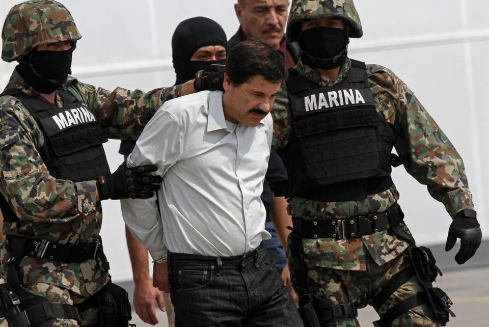 Joaquin Guzman, a reputed drug lord in Mexico, was on the most-wanted list. He was arrested during the weekend.