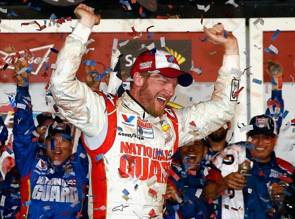 Dale Earnhardt Jr. got his second Daytona 500 win 10 years after his first.