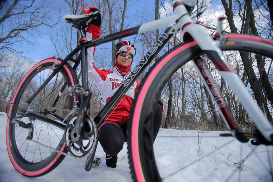 Maureen Bruno Roy is one of the top-ranked pros in the nation in cyclocross, a form of bike racing that combines on-road and off-road cycling with an obstacle course.