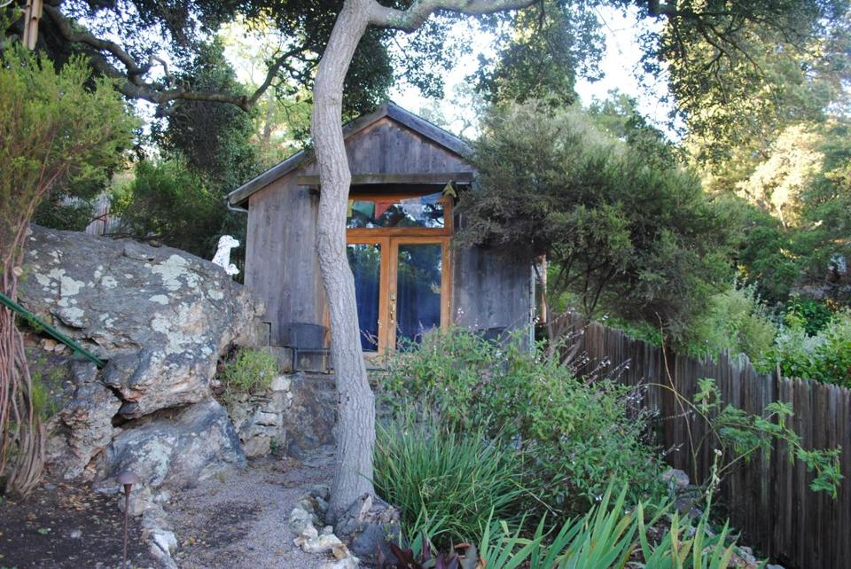 Kelly and JD's Tea House, available through Airbnb, is a backyard cottage in Berkeley, Calif.