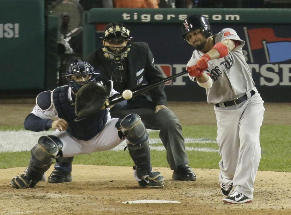 Victorino batted exclusively from the right side of the plate late last season, and that carried over to the ALCS against the Tigers.