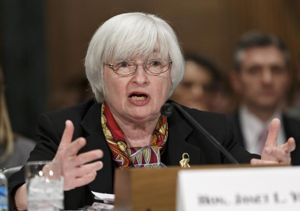 Federal Reserve Chair Janet Yellen said the Fed will make sure the recent slowdown is only a temporary blip.