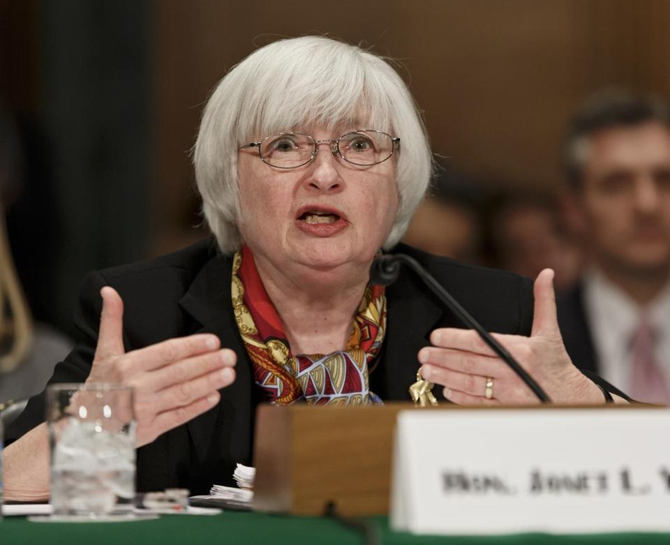 Yellen's comments gave encouragement to Wall Street.