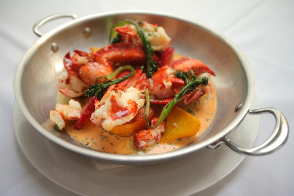 Lobster with winter vegetables.