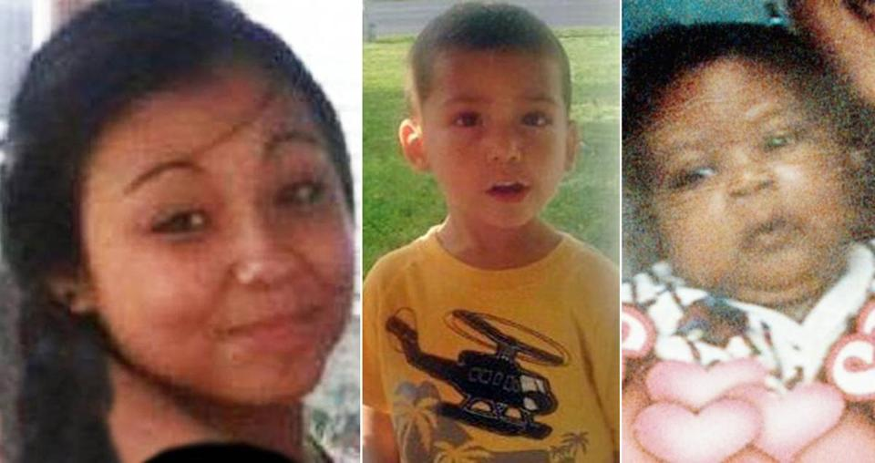 Foster child Alisia Laboa (left) has been missing since running away from a New Bedford home in December. Jeremiah Oliver (center), 5,  disappeared last year while on the state's watch. Marlon Devine Santos (right) was 5 months old when he disappeared from his foster home in 1998 and has never been found.