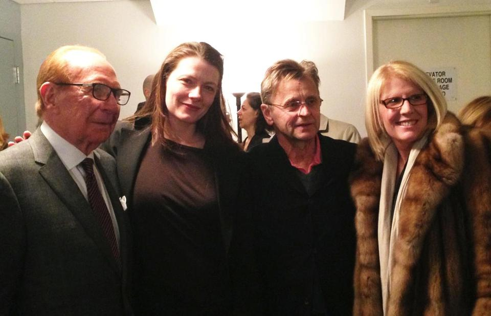 "From left: Ted Cutler, ""Man in a Case"" costar Tymberly Canale, Mikhail Baryshnikov, and Ellen Calmas"