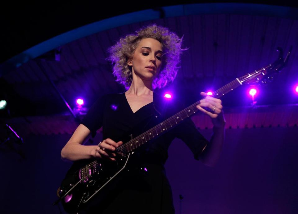 St. Vincent (above, performing in New York in February) is touring to promote her new self-titled album.