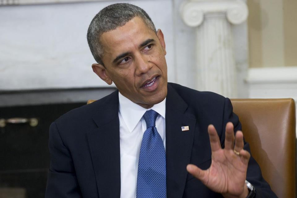 President Obama urged Russia to use diplomacy in Ukraine.