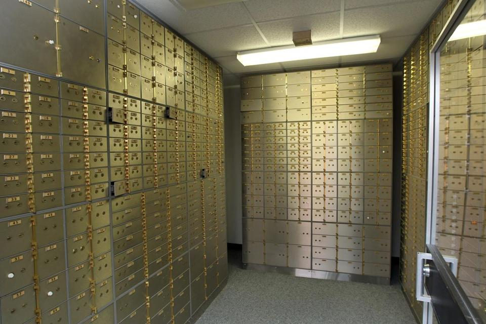 Only two of six branches at Belmont Savings Bank still offer safe deposit boxes, and the bank says demand has slowed.