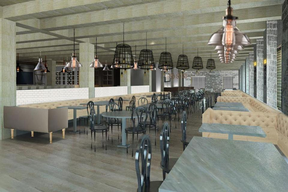 Bastille Kitchen will seat more than 300 diners. It is slated to open in early April.