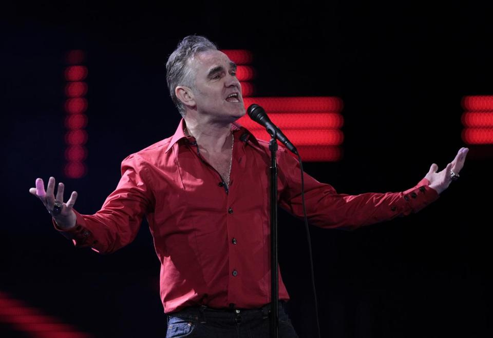 Morrissey (pictured in 2012) previewed much of his forthcoming album in Boston Saturday.