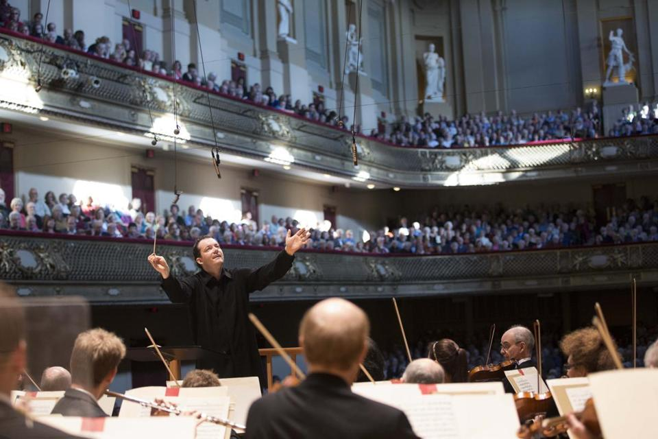 Andris Nelsons recently with Boston Symphony Orchestra