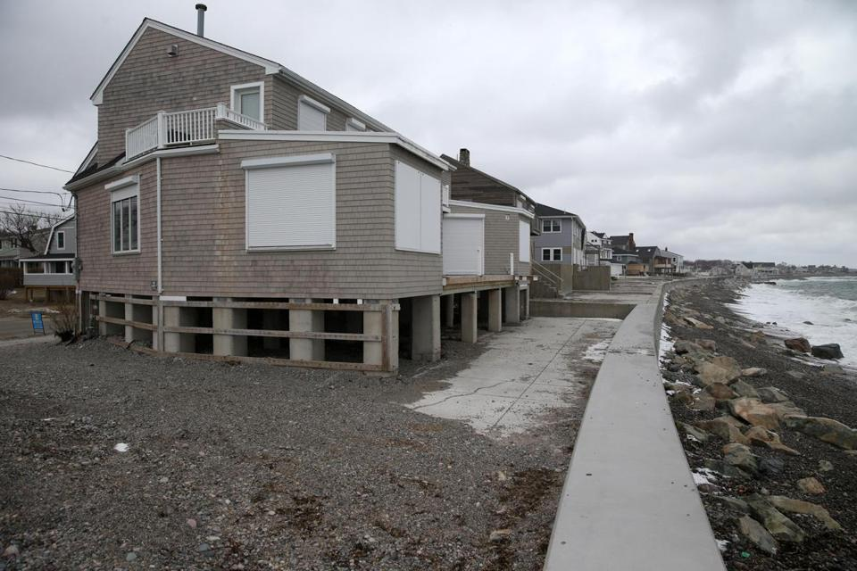 The house at 48 Oceanside Drive in Scituate has been destroyed and rebuilt several times.
