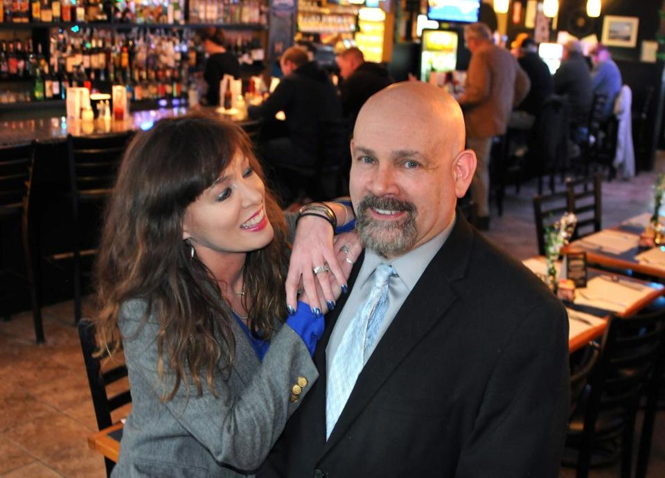 Owners Sandra and Tim Ciaffoni in BB's bar area.