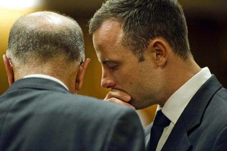 Track star Oscar Pistorius spoke to his uncle during the fifth day of his murder trial in Pretoria, South Africa.