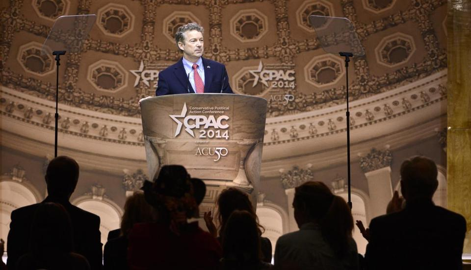 For the second year, Senator Rand Paul won a presidential poll at the Conservative Political Action Conference.