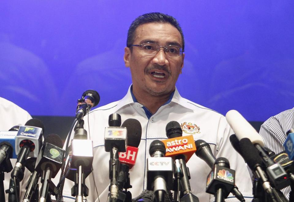 Malaysian Transport Minister Hishammuddin Hussein said that authorities were now looking at four possible cases of suspect identities.