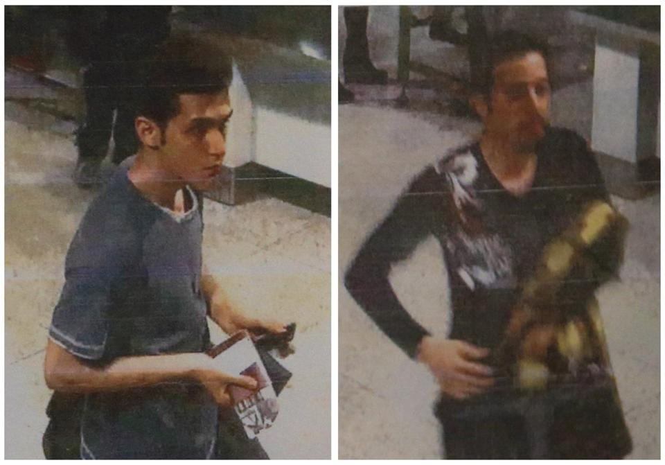 A combination photo shows two men whom police said were travelling on stolen passports onboard the missing Malaysia Airlines flight. One of the men (left) was identified as a 19-year-old Iranian Pouria Nour Mohammad Mehrdad.