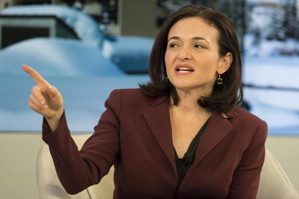 "Facebook's Sheryl Sandberg is author of ""Lean In."""