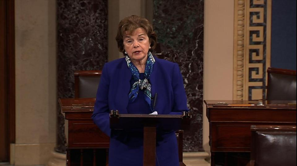 Senator Dianne Feinstein said the improper search of a congressional computer network has been referred to the Justice Department.