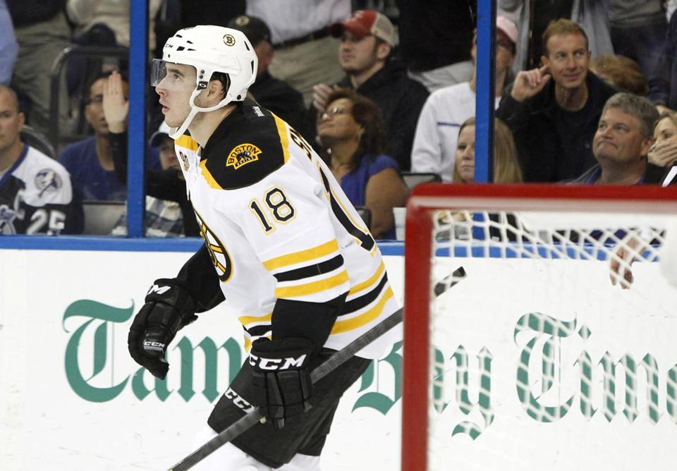 Right wing Reilly Smith scored 19 goals this season.