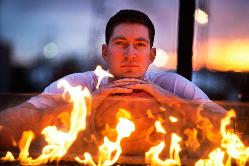 Jake O'Brien, who still harbors a burning desire to play, relaxes at a Hingham restaurant.