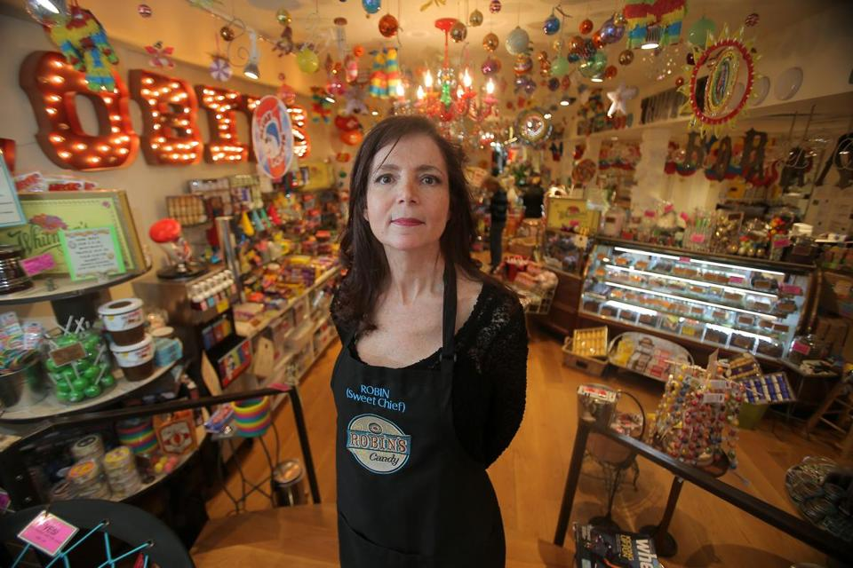 Robin Helfand, the owner of Robin's Candy on Newbury Street, said she has only recovered a fraction of the $100,000 in losses she claimed.