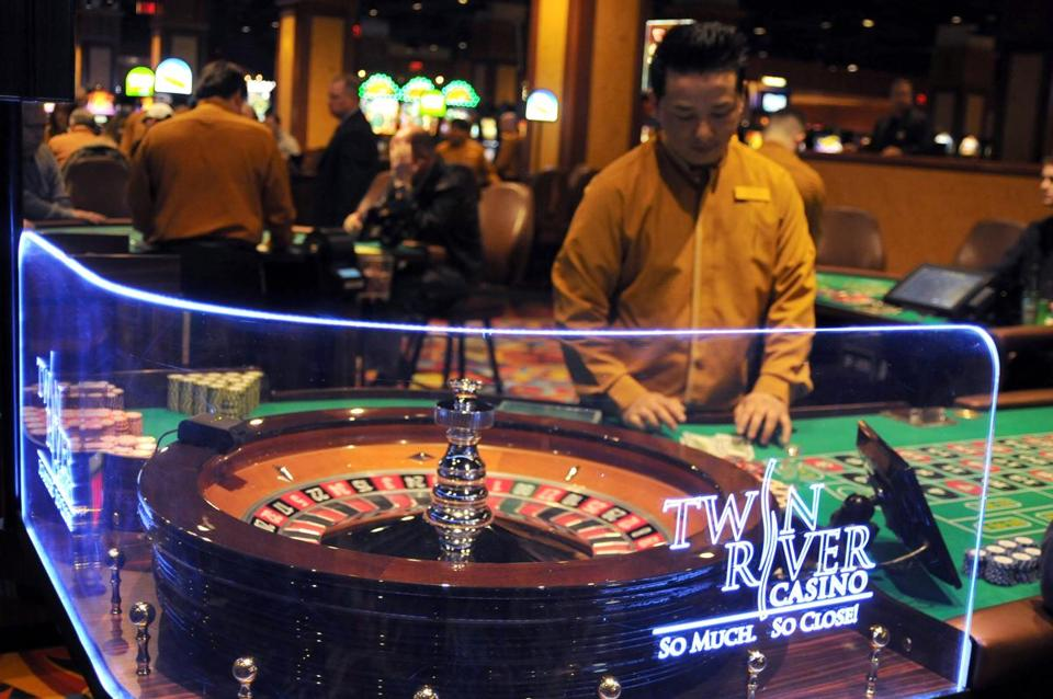 Twin River Casino has slot machines and table games such as roulette. The Plainridge slot parlor will not have table games.
