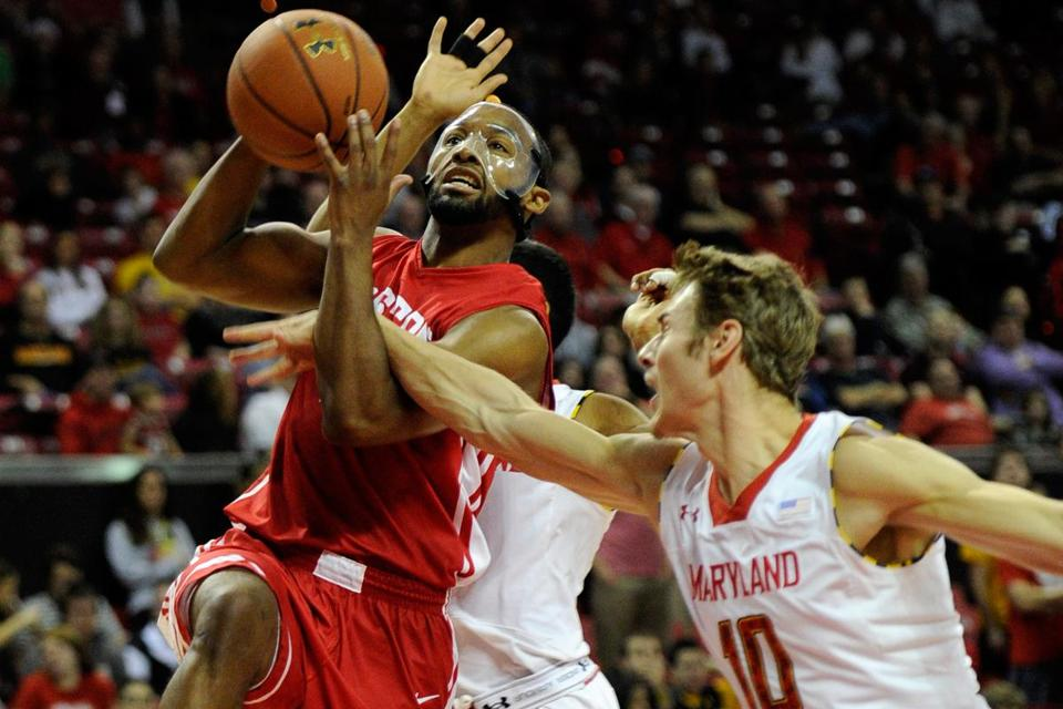 Boston University tricaptains Travis Robinson (above), Dom Morris, and D.J. Irving weren't allowed to compete in the America East tournament last season.