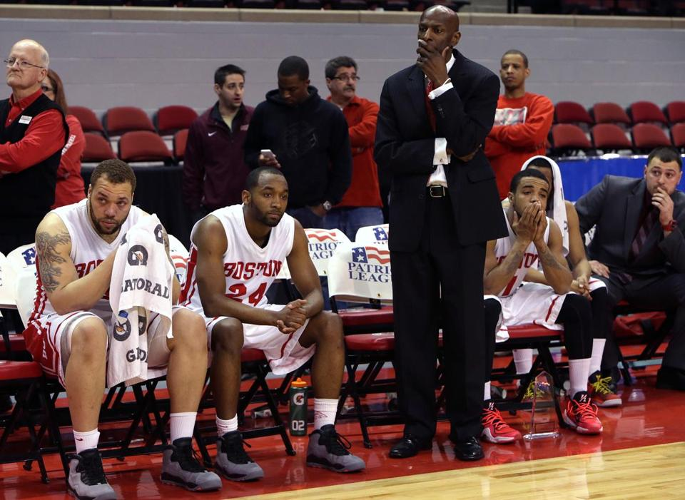 Boston University coach Joe Jones and his team had little to cheer as the loss to American wound down.