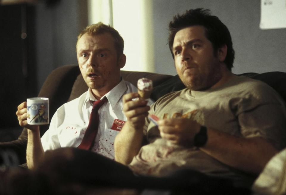 "Simon Pegg and Nick Frost star in the 2004 film ""Shaun of the Dead."""