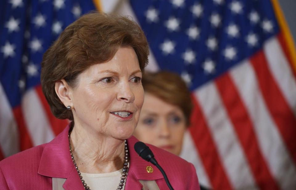 """I've asked Scott Brown to sign the same pledge — his pledge,"" US Senator Jeanne Shaheen wrote in the Conway Daily Sun."