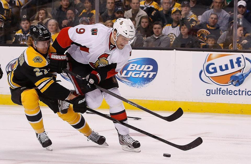 Dougie Hamilton (left) was scratched Wednesday against Montreal.