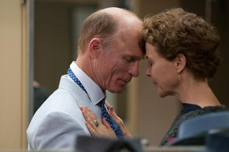 "Ed Harris and Annette Bening in a scene from ""The Face of Love."""