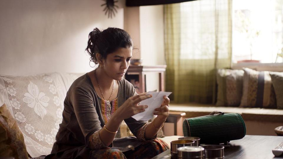 Nimrat Kaur (pictured) and Irrfan Khan play strangers who become involved through letters passed to each other in lunchboxes.
