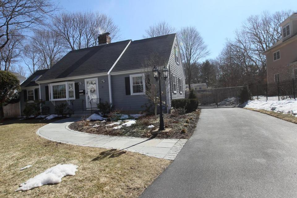 This home on Marshall Road in Wellesley was listed in March for $890,000, one of a small percentage of homes in the community being put on the market for less than $1 million.