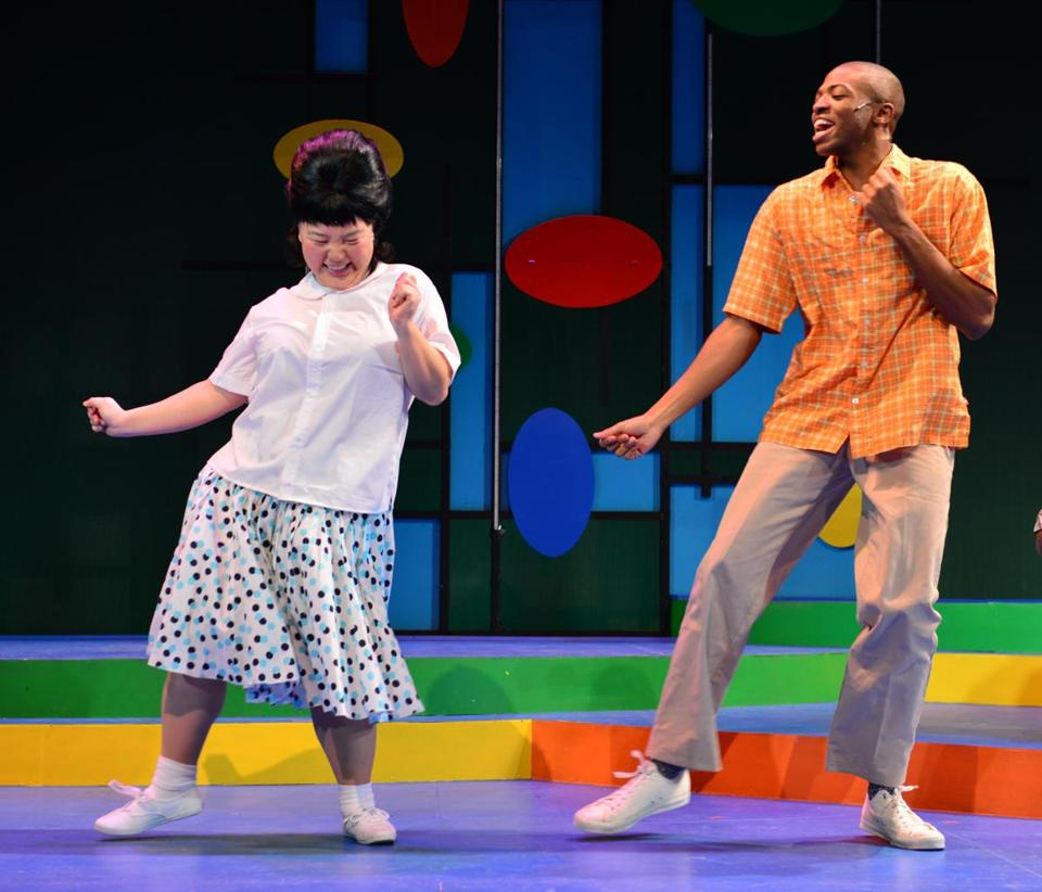 "Wheelock Family Theatre's production of ""Hairspray"" with Jenna Lea Scott, an Asian-American, playing a role that typically goes to a caucasian actress."