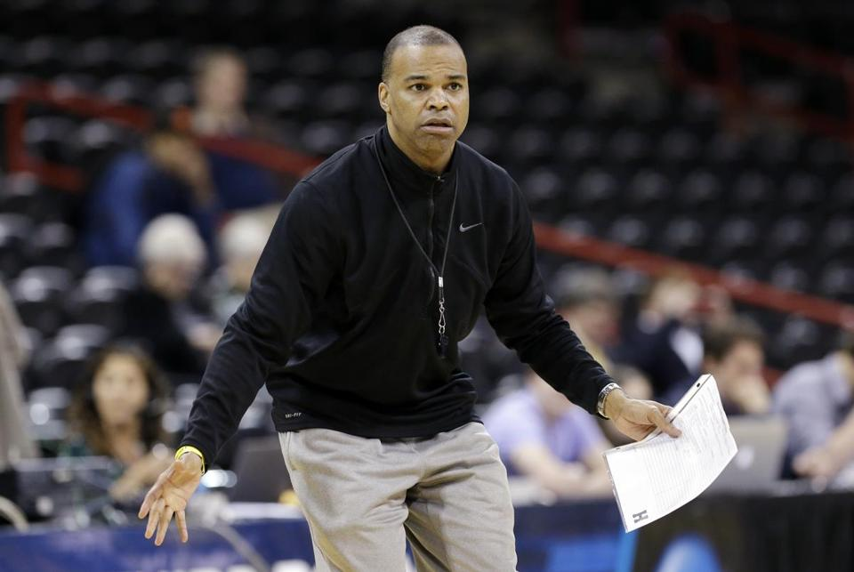 Tommy Amaker said all the right things Wednesday, but he didn't say he would be Harvard's coach next season.  (AP Photo/Elaine Thompson)