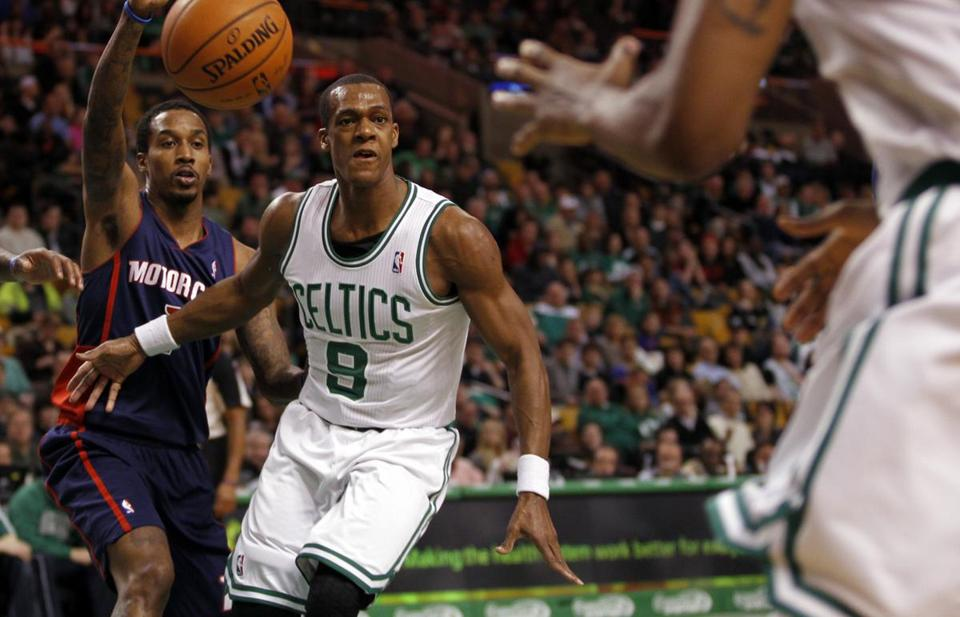 Teammates said Rajon Rondo has done a good job leading the Celtics through a trying season.