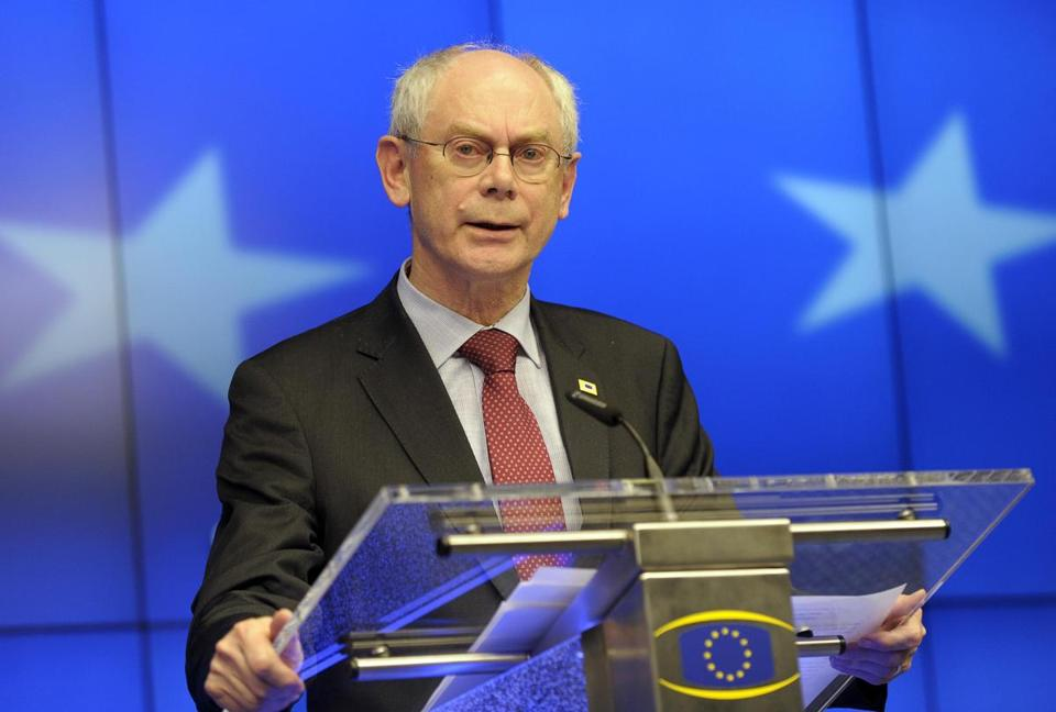 ''Some of them are really high-ranking,'' EU President Herman Van Rompuy said of the 12 people targeted by the bloc's recent travel bans and asset freezes.
