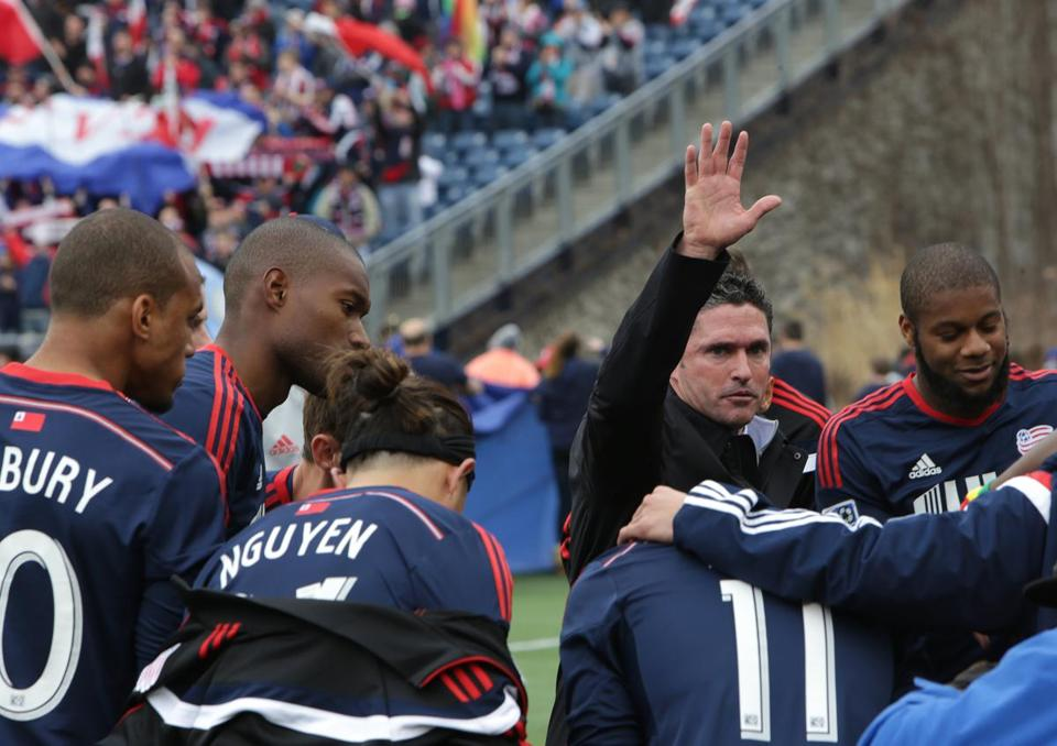 This is Jay Heaps's third season as coach of the Revolution.