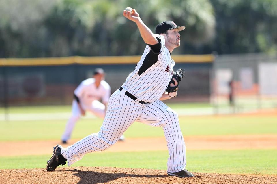 Northeastern senior Chris Carmain missed the 2012 season after Tommy John surgery and suffered tendonitis in 2013.