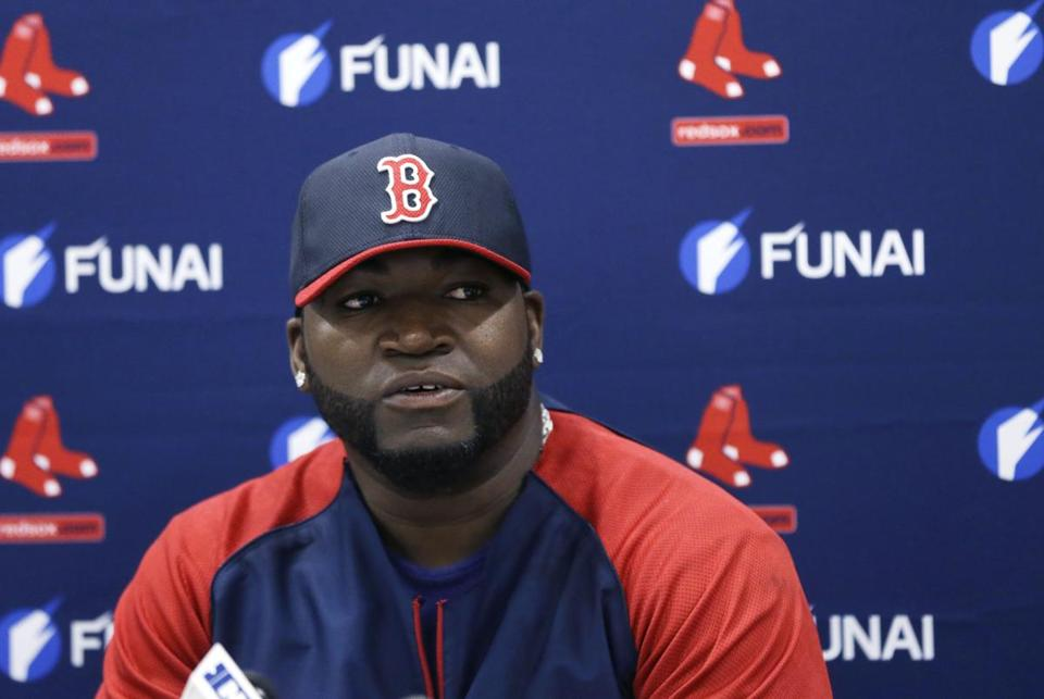 David Ortiz discussed his new contract on Monday.
