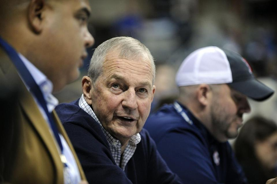 Jim Calhoun says he still has the energy should the right coaching job come along. (AP Photo/Fred Beckham)