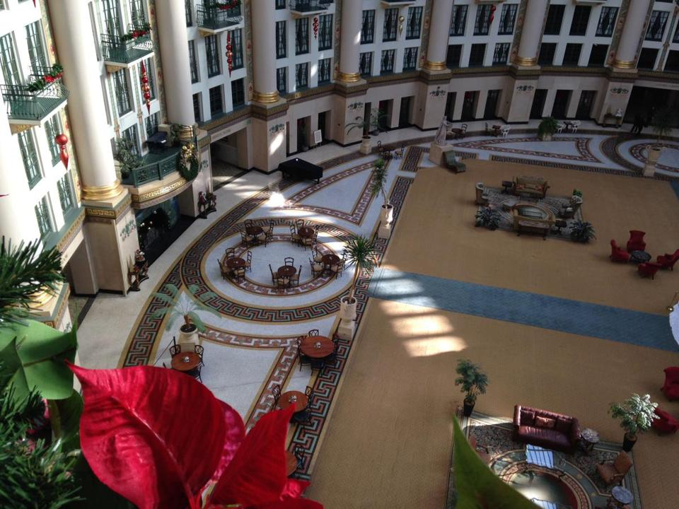 The West Baden Springs Hotel atrium is 100 feet high by 200 feet across.